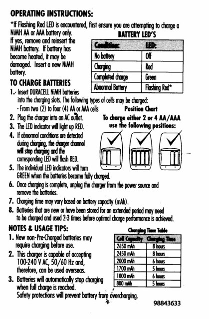 duracell 15 minute charger manual