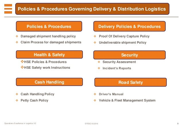 logistics policy and procedures manual