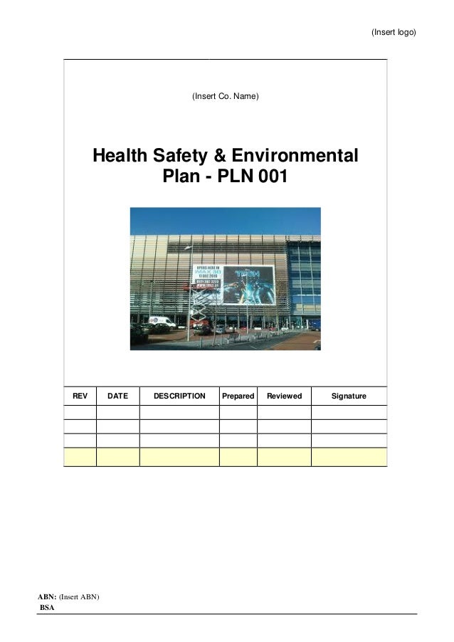 health safety and environment manual pdf