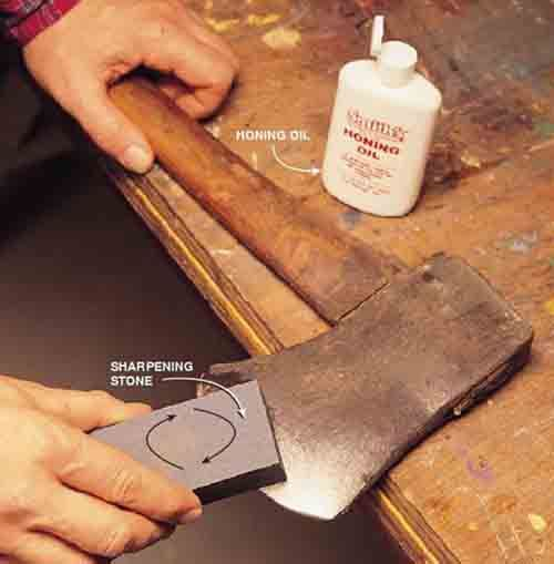 how to sharpen manual mower blades