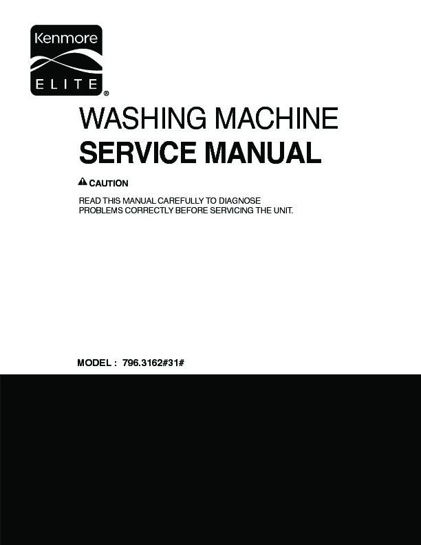 lg washing machine service manual free download
