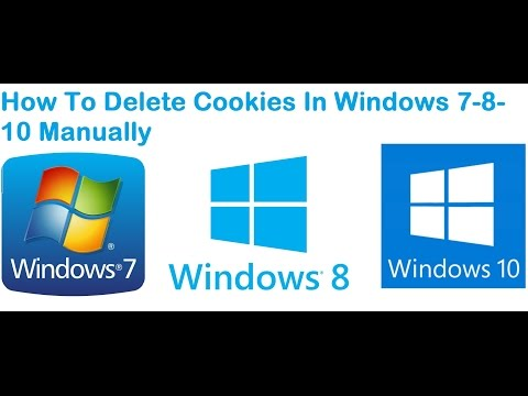 windows 7 delete cookies manually